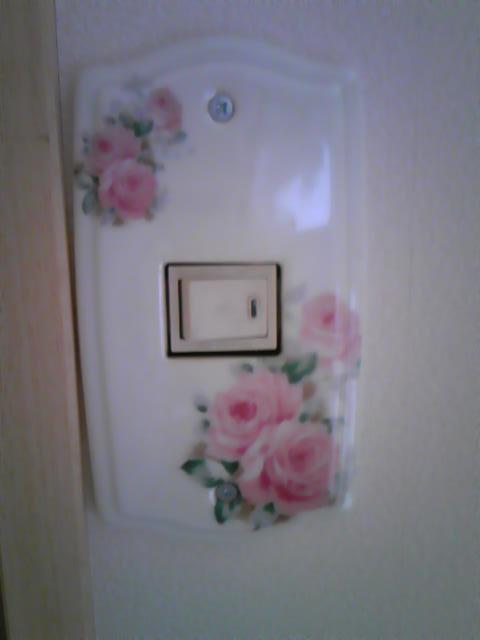薔薇のスイッチプレート_d0165645_123323.jpg