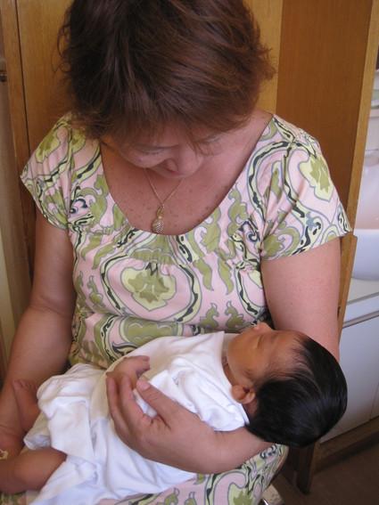 赤ちゃんに会ってきましたよ~♪_e0131324_1856447.jpg