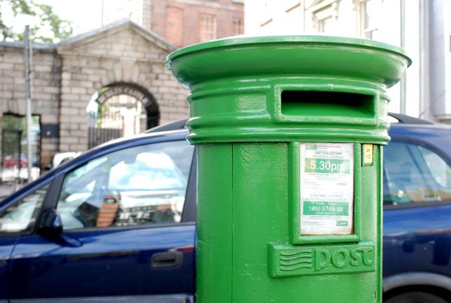 アイルランドのポストは緑色_e0175918_456586.jpg