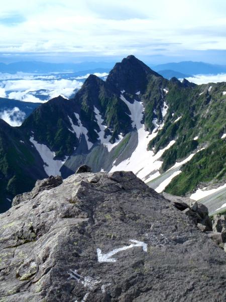 夏休み岩稜歩き-涸沢岳へ_c0177814_0114014.jpg