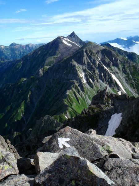 夏休み岩稜歩き-涸沢岳へ_c0177814_0264763.jpg
