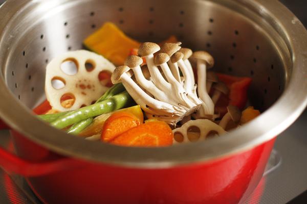 和風蒸し野菜のせバーガー_f0149855_5462268.jpg