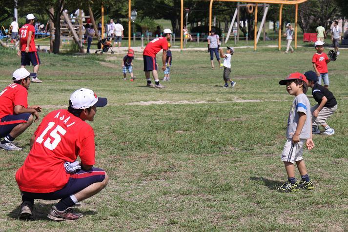 びわ湖こどもの国 野球教室_b0105369_1444746.jpg