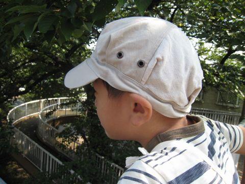 リメイク ★ ハギレのハギレの夏帽子_e0170272_20163568.jpg