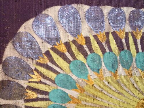 手織名古屋帯 エジプト大華文   <工芸帯地 洛風林の帯>_d0159384_1794076.jpg