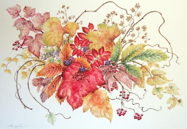 秋色の水彩画_b0089338_2340577.jpg