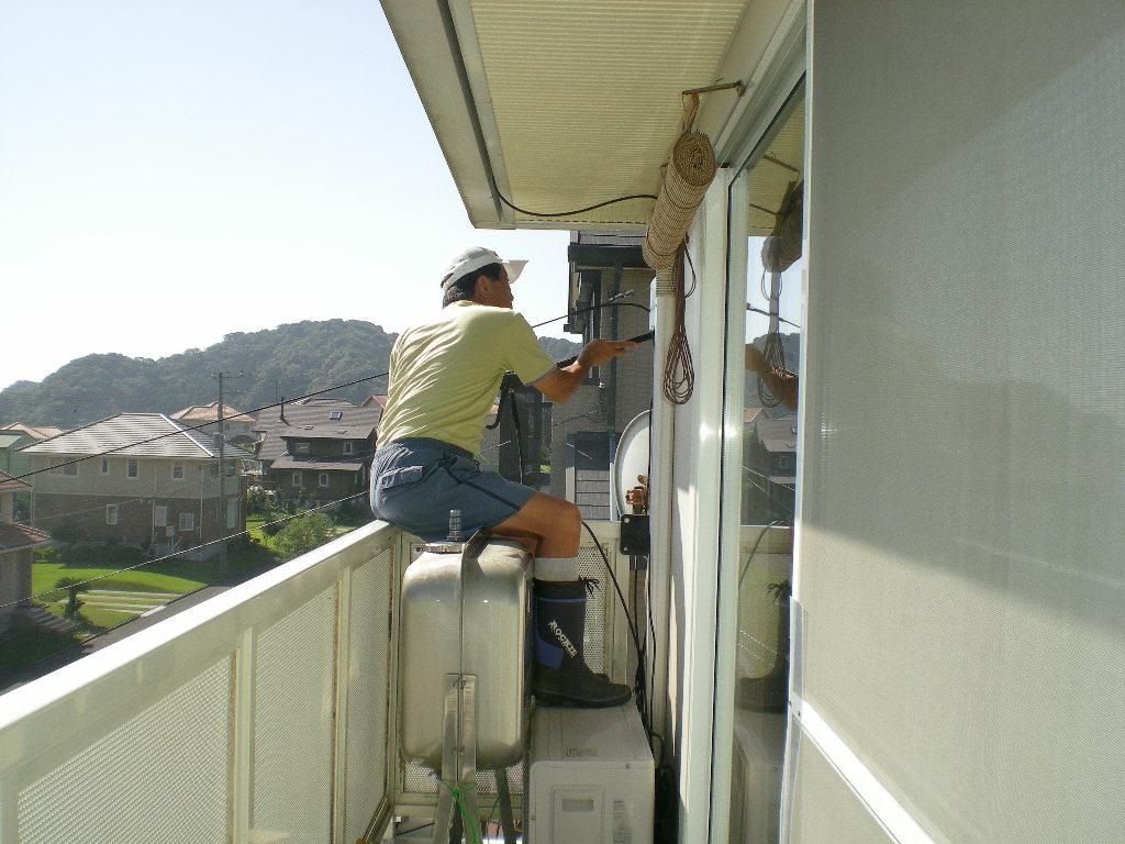2010年9月22日(水)真夏日には窓洗浄!_f0060461_9564493.jpg