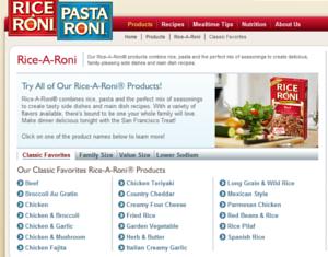 米国の伝統的な家庭用お米製品、ライス・ア・ローニ(Rice-A-Roni)_b0007805_23531562.jpg