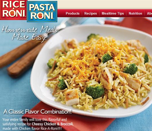 米国の伝統的な家庭用お米製品、ライス・ア・ローニ(Rice-A-Roni)_b0007805_23532716.jpg