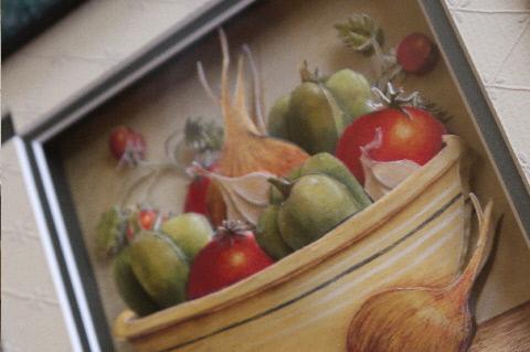 お野菜プリントのシャドウボックス♪_e0086864_23295721.jpg