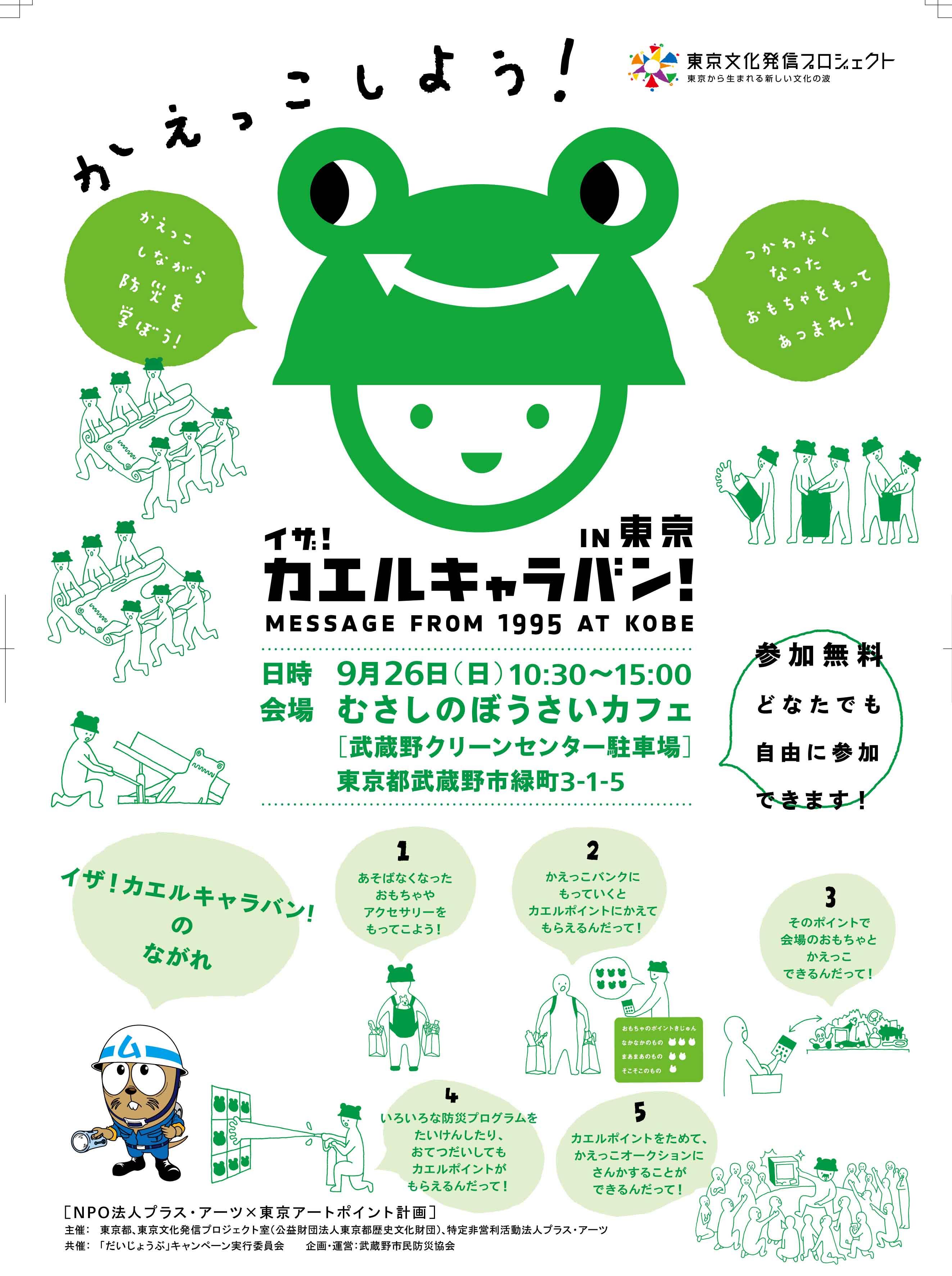 イザ!カエルキャラバン!in東京vol.2-むさしのぼうさいカフェ_c0036272_2045299.jpg