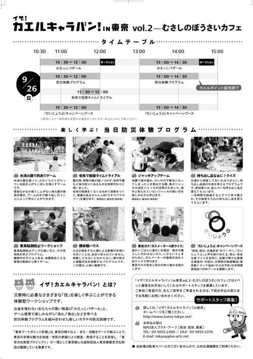 イザ!カエルキャラバン!in東京vol.2-むさしのぼうさいカフェ_c0036272_2045635.jpg