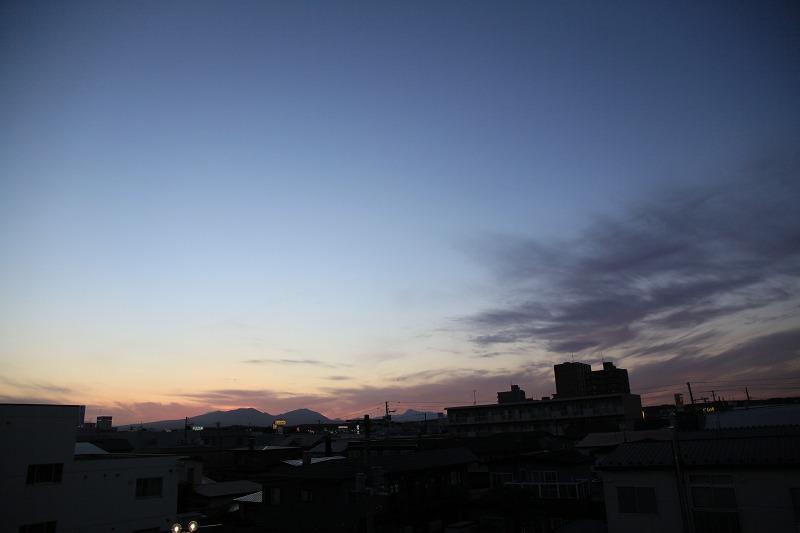 夕焼け樽前山_a0160581_1982654.jpg
