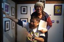 月の祭り展最終日@古民家ギャラリーかぐや~横浜アート動物園最終日@MOONCAT_f0006713_8343363.jpg