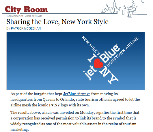 "NY州が史上初めて、\""I ♥ NY\""の使用を民間企業(ジェット・ブルー社)に正式に許可_b0007805_126478.jpg"