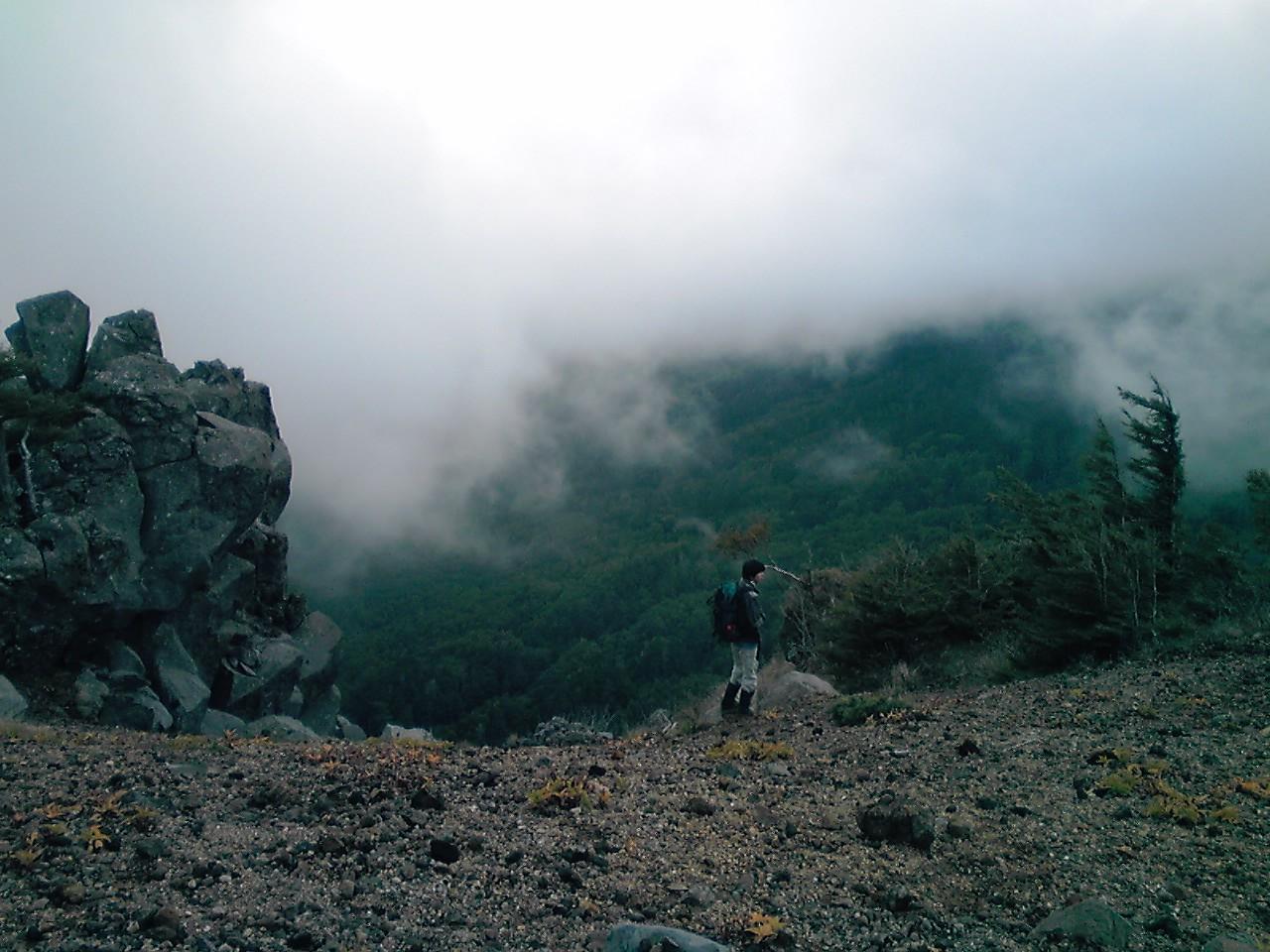 稲子岳のガレ場_e0155231_18132623.jpg