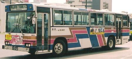 中鉄バス 日野P-HU276BA +日野車体_e0030537_1102835.jpg