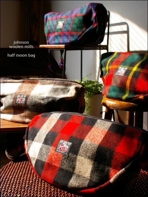 Johnson woolen mills [ジョンソンウーレンミルズ]wool half moon bag [ウールハーフムーンバッグ]_f0051306_16481832.jpg
