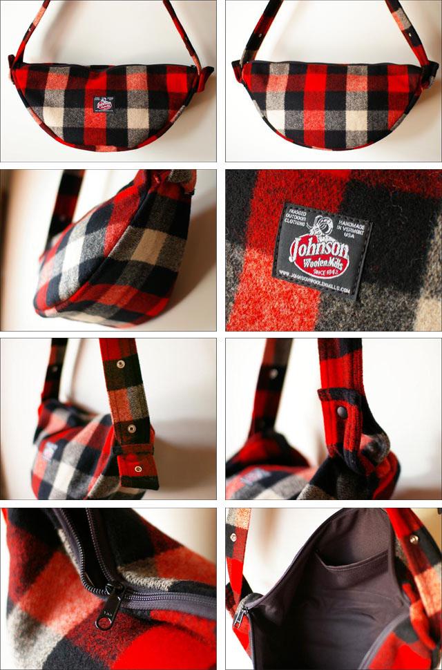 Johnson woolen mills [ジョンソンウーレンミルズ]wool half moon bag [ウールハーフムーンバッグ]_f0051306_16482040.jpg