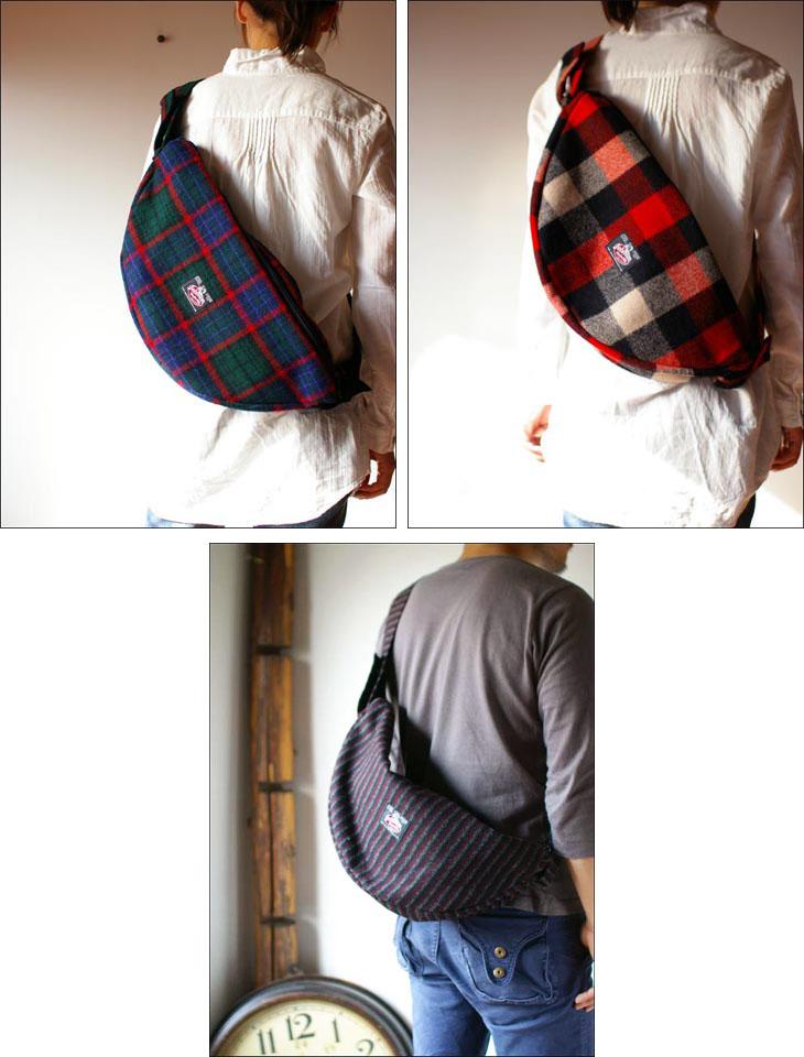 Johnson woolen mills [ジョンソンウーレンミルズ]wool half moon bag [ウールハーフムーンバッグ]_f0051306_16482255.jpg