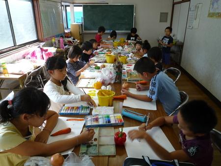 長尾教室〜ねんどの野菜_f0215199_15415571.jpg