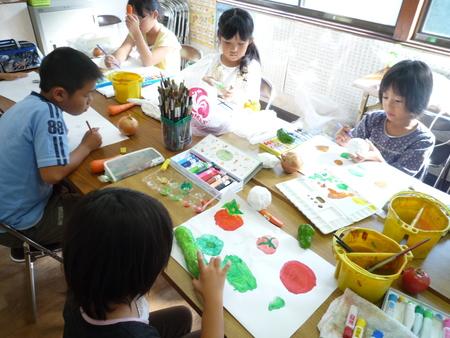 長尾教室〜ねんどの野菜_f0215199_15463047.jpg