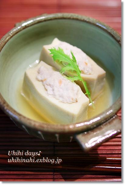 お出汁が染み染み♪ 高野豆腐のつくね詰め_f0179404_21504157.jpg