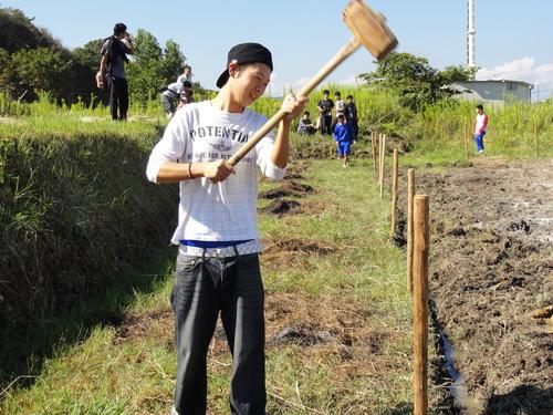 H12年10月 岬高校「山海人プロジェクト:菜の花畑」_c0108460_16383879.jpg