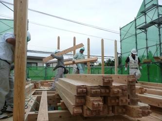 福岡市東区三苫にて 上棟レポート ~2階を建てる_b0112371_20365386.jpg