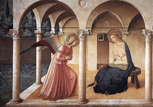 あるフレスコ画~サンマルコ国立美術館フラ・アンジェリコ作「受胎告知」_f0106597_2337217.jpg