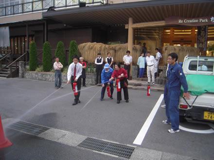 ちこり村 AED講習会と防災訓練_d0063218_11103457.jpg