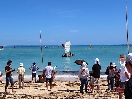 沖縄県南城市あざまサンサンビーチ 『帆掛サバニレース』_d0022799_22303329.jpg