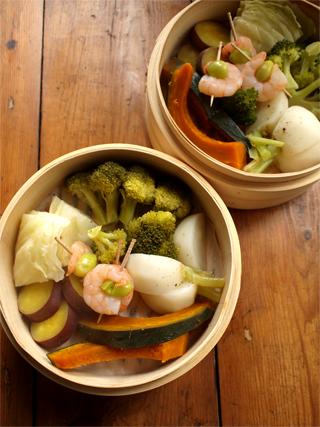 せいろで、蒸し野菜。_d0174704_20222240.jpg