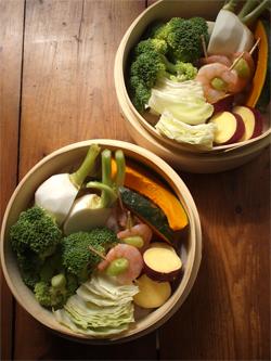 せいろで、蒸し野菜。_d0174704_20501641.jpg
