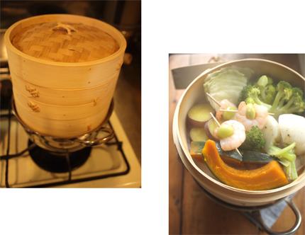 せいろで、蒸し野菜。_d0174704_205559.jpg