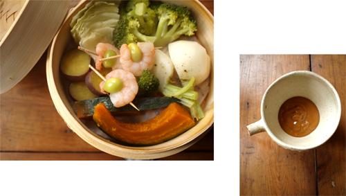 せいろで、蒸し野菜。_d0174704_210859.jpg