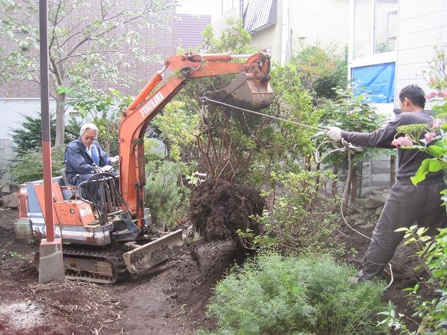庭整備最終作業・・・_f0202703_19275128.jpg