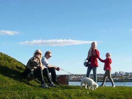 ジョン・レノンのピースタワーを楽しむ異常気象のアイスランド_c0003620_61877.jpg