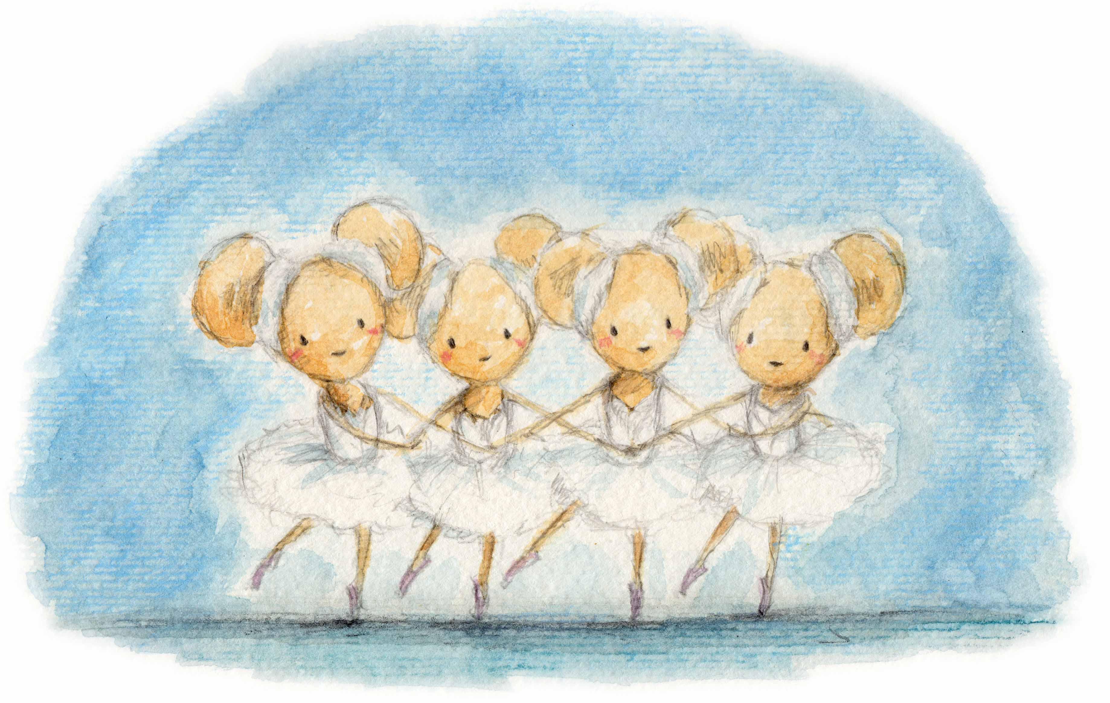 ねずみのバレリーナ1 : On danse! : 四月のカレンダー : カレンダー