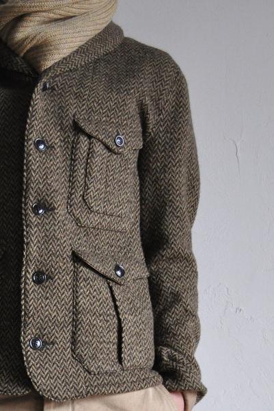HAVERSACK/ハバーサック Knit Tweed Cardigan JK