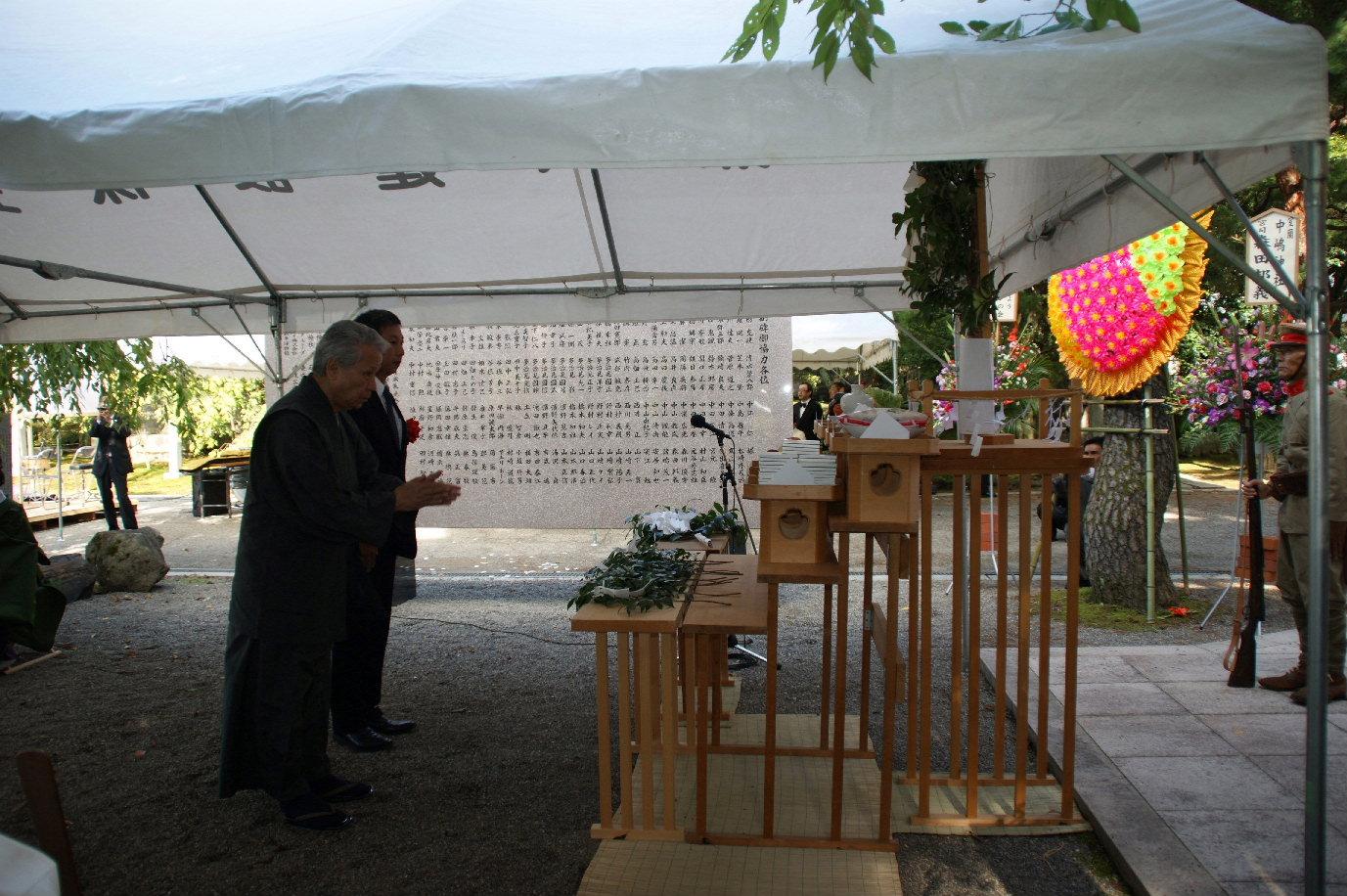 十月十一日 大東亞聖戰大碑建立十周年 副碑落慶記念式典參列 於石川縣護國神社_a0165993_510073.jpg