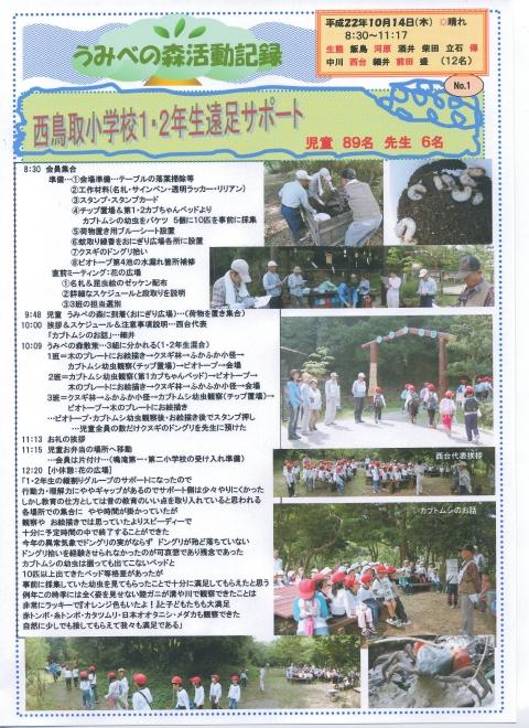 「西鳥取小学校1・2年生」遠足サポート_c0108460_22315926.jpg