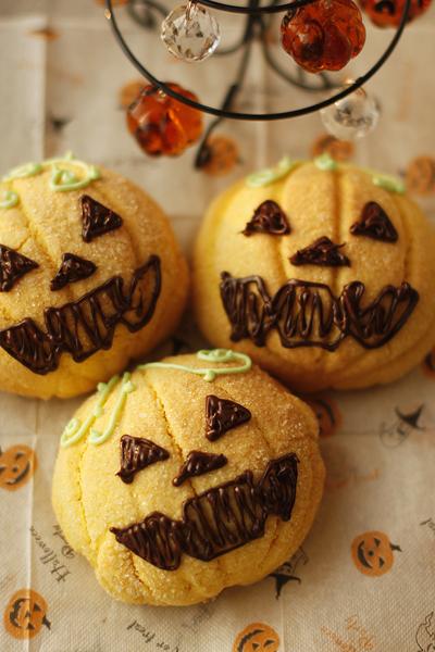 かぼちゃメロンパン_f0149855_17122148.jpg
