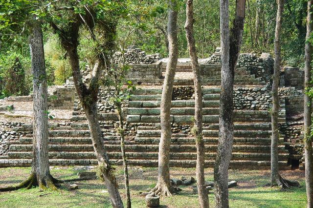 コパン遺跡 (6) 東広場から神聖文字の階段へ_c0011649_9333880.jpg
