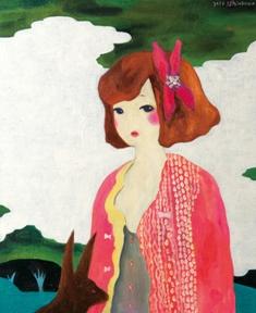 2010/11/23-28 進川桜子展  - 少女画の世界 - 【油彩画、アクリル画、木版画】_e0091712_22124711.jpg