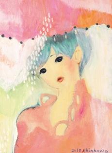 2010/11/23-28 進川桜子展  - 少女画の世界 - 【油彩画、アクリル画、木版画】_e0091712_22133294.jpg
