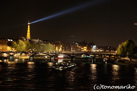 夜景のセーヌ川前、カチャレストラン♪_c0024345_910542.jpg