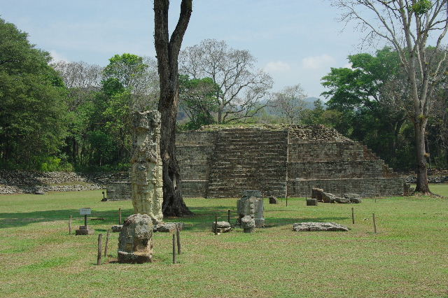 コパン遺跡 (8) グランプラザのステラ(石碑)群_c0011649_18304462.jpg