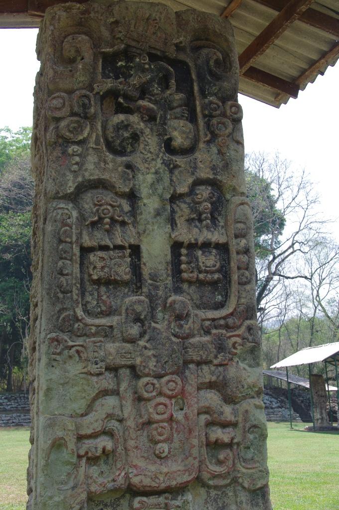 コパン遺跡 (8) グランプラザのステラ(石碑)群_c0011649_1912866.jpg