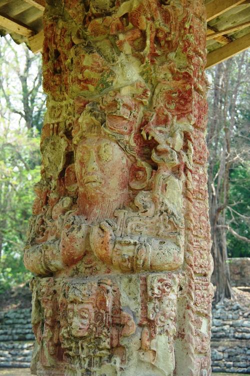 コパン遺跡 (8) グランプラザのステラ(石碑)群_c0011649_19141970.jpg